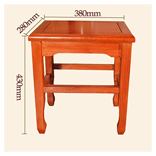 KDJHP - Wood Stool Wooden Bench- Square Stool Home Large Rosewood Wood Chinese Style Mahogany Study Fast Restaurant Coffee Table Stool - 9988 (Color : A)