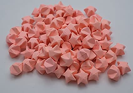 Gift 1000 Origami Lucky Star Pink Rose NO.E Jar Home Wedding
