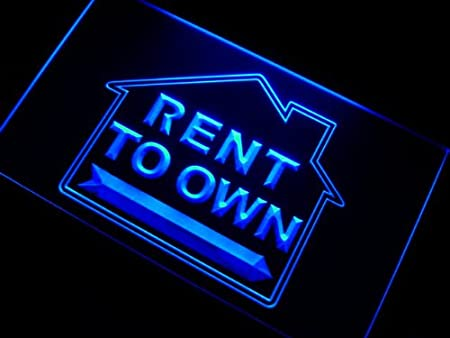 ADVPRO Cartel Luminoso m095-b Rent to Own Estate Agent Neon ...