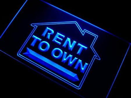 ADVPRO Cartel Luminoso m095-b Rent to Own Estate Agent Neon ...