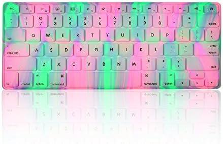 TOPCASE serie de luz polar de teclado de silicona para MacBook, MacBook Pro y MacBook Air, 13 – 17 inch con alfombrilla para ratón – lavanda primavera