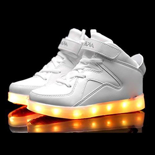 7 Farben blinken USB-Ladesportschuhe der Spinne Kinder Freizeitschuhe leuchtende Schuhe Größe:31 EU Jugend