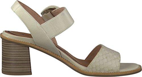 Tamaris Schuhe 1-1-28314-28 bequeme Damen Sandalette, Sandalen, Sommerschuhe für modebewusste Frau, Elfenbein (CLOUD), EU 40