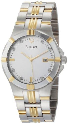 Bulova Men's 98D115 Diamond Silver Dial Watch