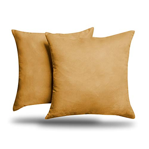 ALEXANDRA'S SECRET HOME COLLECTION 2-Pack Solid Faux Suede Decorative Throw Pillow Cover/Sham (26