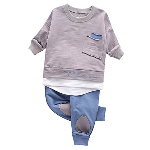 MIOIM 2PCS Baby Boys Girls Tops Leggings Clothing Set Korean Style Infant Toddler Long Sleeves Shirts (Cute Little Girl Clothing Websites)