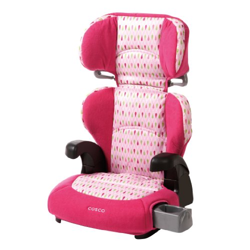 Cosco Pronto! Booster Car Seat for Children, Adjustable Headrest, Integrated Cup Holders, Teardrop