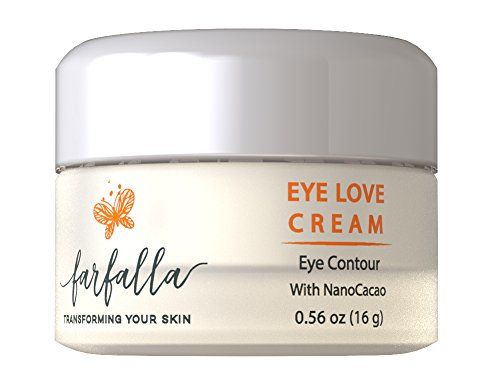 Eye Cream Reduces Puffy Eyes & Dark Eye Circles - Eye Love Cream Contour with Vitamin K & Nanocacao, Lightens Skin, Firms, Hydrates & Diminishes Expression Lines, Wrinkles. Fresh, Rested Eyes. 16 oz ()