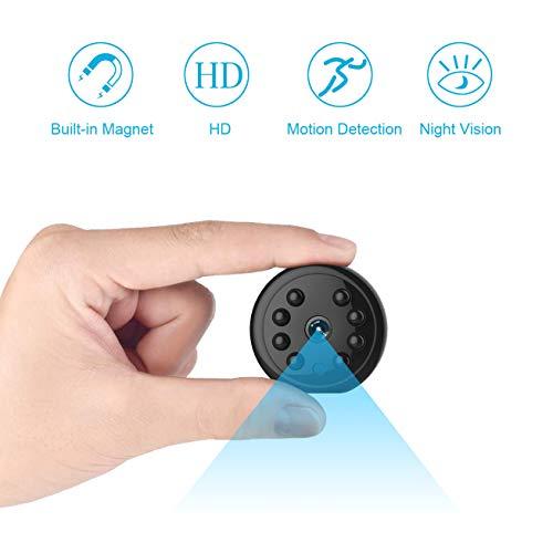 🥇 Hidden Camera Security Camera HD 1080P Mini Camera Spy Camera Motion Detection Night Vision Camera Long Time Recording Surveillance Camera for Home Monitoring