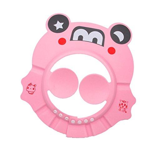 YJYdada Adjustable Baby Child Kids Shampoo Bath Shower Cap Hat Wash Hair Cap (Pink)