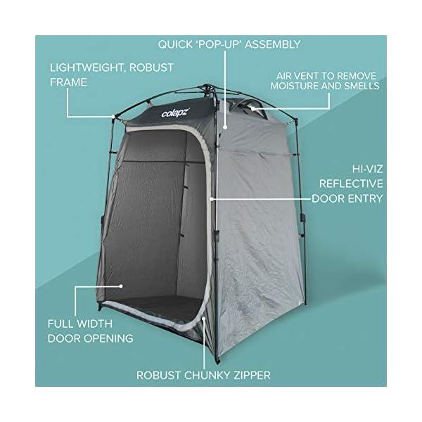 41mhZT5WQXL Colapz Duschzelt Camping - Camping Toilette hoch - Mobiler Sichtschutz Outdoor Pop Up Changing Tent - Mobile Dusche Zelt