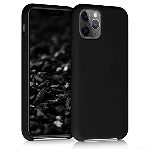 kwmobile TPU Silicone Case Compatible with Apple iPhone 11 Pro - Soft Flexible Rubber Protective Cover - Black