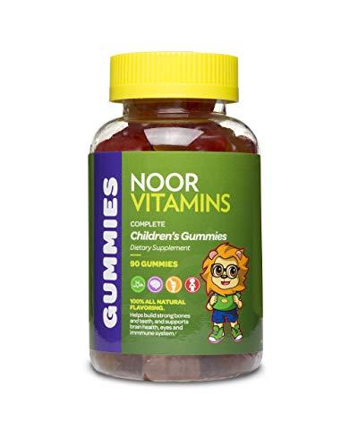 NoorVitamins Gummies Complete - 90 Count - Childrens Gummy Multivitamins - Halal Vitamins