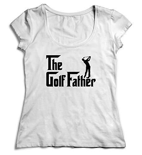 - MYMERCHANDISE The Golf Father Golf Player Shirt Women Christmas T-Shirt Tshirt Cotton MD White Women