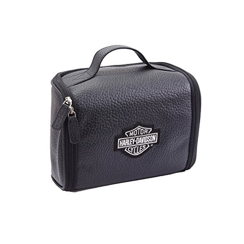 Harley Davidson Men's Leather Hanging Toiletry Kit, for sale  Delivered anywhere in USA