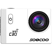 For SOOCOO C30 Action Camera, Portable 4K 64G 20MP 2.0 Inch Waterproof Diving With Sports Camera