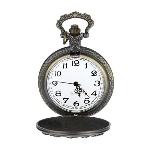 Guartz Watches for Men Digital Under 10 Dollars ❤ Personalized Pattern Steampunk Vintage Quartz Roman Numerals Pocket Watch