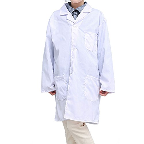 CLanItris America Kids Unisex Doctor Lab Coat for Scientist Role Play Costume Set - Soft Touch (X-Large,White) by CLanItris (Image #4)