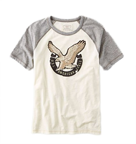 American Eagle AEO Applique Graphic Vintage T-Shirt, Size S-XL (X-Large) ()