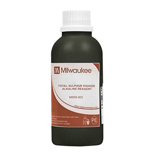 Milwaukee Instruments Mi555-003, Alkaline Reagent for Total SO2, 4x100ml, 8 Packs of 4 Bottles