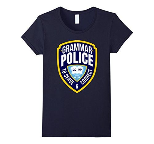 Womens English Grammar Police Funny Sarcasm Quotes Literary T-shirt Small (Literary Inspired Costumes)