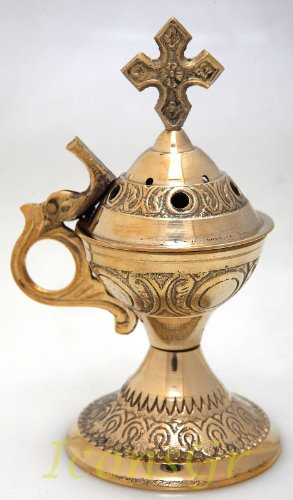 Christian Byzantine Orthodox Greek Censer Incense Burner Liturgy (4886b) by Iconsgr