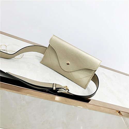 Pocciol Pure Messenger Elegant Clutch Women Leather Black Handbags Splice Wallet Envelope Gold Evening Color HwUwq