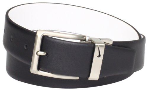 Nike Men's Reversible Dress Belt, Black/White, 32