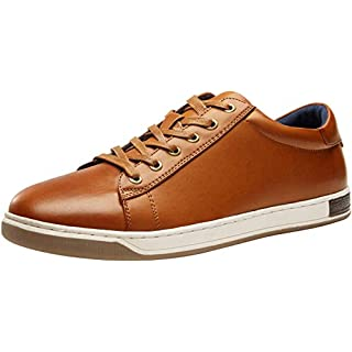 JOUSEN Men's Sneakers Lightweight Casual Shoes for Men Memory Foam Business Fashion Sneaker (9,Yellow Brown)