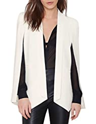 ACHICGIRL Women's Fashion Solid Shawl Collar Open Front Cape Blazer