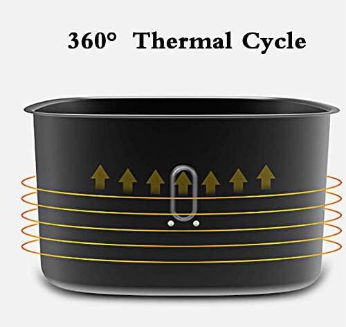 Yppss Super Affaire 1200W électrique Air Fryer W/minuterie, contrôle de température, Panier Amovible Poignées sans Huile, 8L, A Eternal