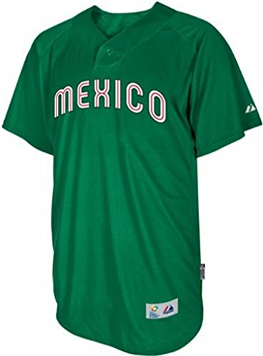 VF Mexico Majestic 2013 World Baseball Classic Authentic Batting Practice Jersey (48)
