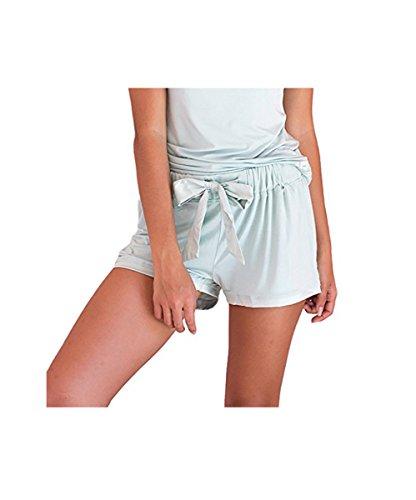 Faceplant Dreams Dreamwear Bamboo Shorts (Small, Aqua Mist)