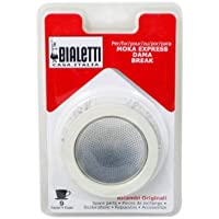 Bialetti Replacement Gaskets and Filter Set, 9 Cup,White