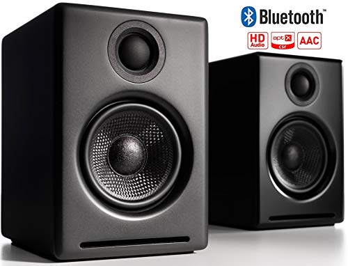 Audioengine A2+ Wireless 60W Powered Desktop Speakers, Bluetooth aptX Codec, Built-in 16Bit DAC and Amplifier (Black)