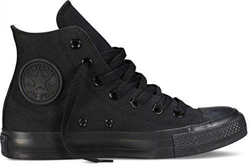 Converse Unisex Chuck Taylor All Star Hi Top Mono Black Sneaker 7.5