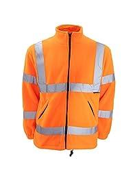 Warrior Mens Hudson Hi-Vis Reflective Fleece Jacket