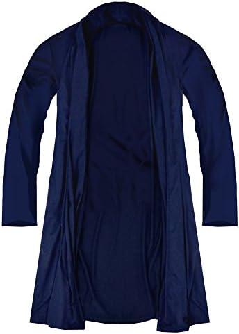 カーディガン ロング丈 メンズ 長袖 無地 シンプル ネイビー 紺 f432 f432-l