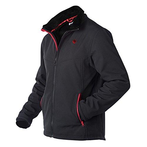 VentureHeat Men's Escape USB Battery Heated Softshell Jacket (Black,X-Large)