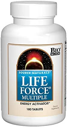 Source Naturals Life Force Multiple Daily Multivitamin High Potency Essential Vitamins, Minerals, Antioxidants & Nutrients - Energy & Immune Boost - 180 Tablets