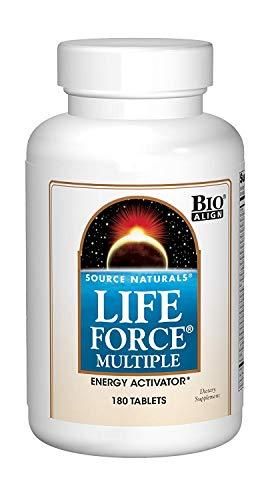 Source Naturals Life Force Multiple Daily Multivitamin High Potency Essential Vitamins, Minerals, Antioxidants & Nutrients - Energy & Immune Boost - 180 (Best Source Naturals Multivitamin)