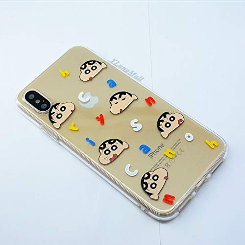75ef238a875 Fitted Cases - Crayon Shin-chan Fundas for iPhone Xs Max XR Case Soft Clear