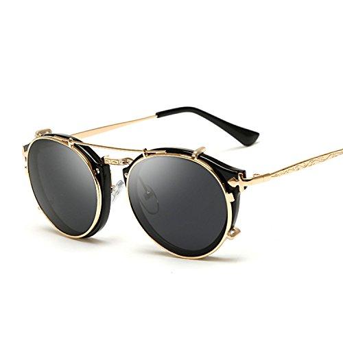 Sunglasses Lady Retro Dual Set Mirror Flat Sunglasses Men's ()
