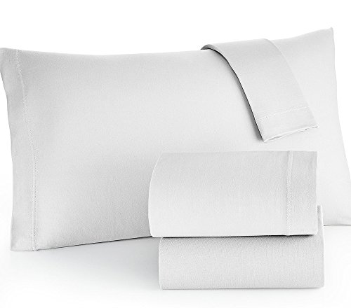 Brielle Easy Care Microfiber Jersey Knit Sheet Set, Queen,