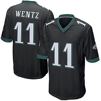 2c266a578e6 Mens Philadelphia Eagles Carson Wentz #11 Game Jersey Black, Jerseys -  Amazon Canada