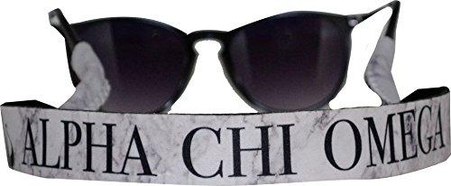 Alpha Chi Omega - Sunglass Strap - Marble Theme