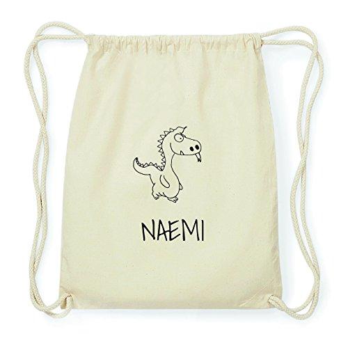JOllipets NAEMI Hipster Turnbeutel Tasche Rucksack aus Baumwolle Design: Drache