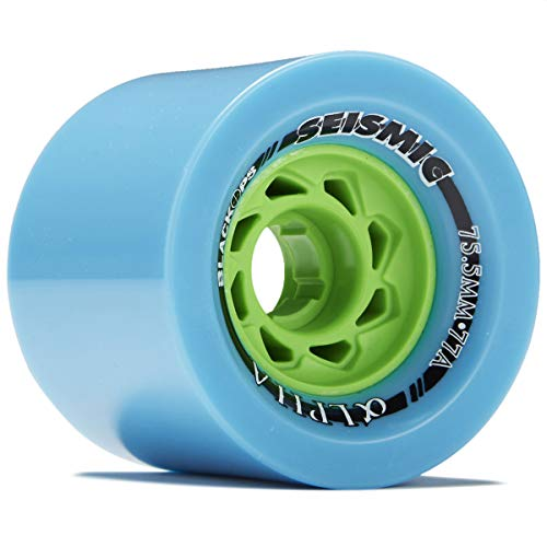 Seismic Alpha Longboard Wheels - 75.5mm - 77a Blue