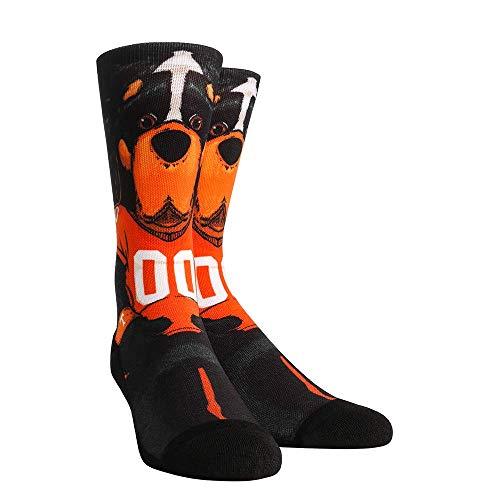 NCAA Super Premium College Fan Socks (L/XL, Tennessee Volunteers - Mascot Smokey)
