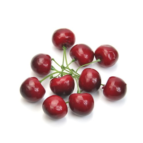 (Estone 10/20/50/100pcs Fake Faux Cherry Artificial Fruit Model House Kitchen Party Decorative New (10))